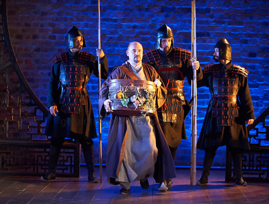 The Orphan of Zhao adapted by James Fenton. A Royal Shakespeare Company Production directed by Gregory Doran.  With Graham Turner as Dr Cheng Ying, Youssef Kerkour  as Captain of the Guard. Opens at Swan Theatre at Stratford Upon Avon on 8/11/12. CREDIT Geraint Lewis