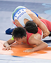 (B-T) Shinobu Ota (JPN), Hamid Mohammad Soryan (IRI), AUGUST 14, 2016 - Wrestling : Shinobu Ota of Japan competes against Hamid Mohammad Soryan of Iran during the Rio 2016 Olympic Games Men's Greco-Roman 59kg Qualification at Olympic Training Center Hall 3 in Rio de Janeiro, Brazil. (Photo by Enrico Calderoni/AFLO SPORT)