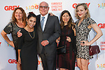 Left to right Aida Turturro, Daphne Rubin-Vega, Jim Heekin, guest and Geneva Carr arrive at the Grey Centennial Gala at Madison Square Park in New York City on May 18, 2017.