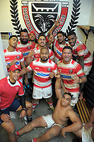 Papatoetoe players unwind in the changing rooms after Auckland Premier club rugby match between Papatoetoe and College Rifles at Papatoetoe Rugby Club in Auckland, New Zealand on Friday, 28 April 2018. Photo: Dave Lintott / lintottphoto.co.nz