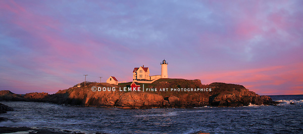 A Truly Gorgeous Sunset At The Nubble Light, Cape Neddick, Maine