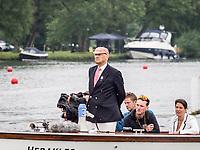 Henley Royal Regatta, Henley on Thames, Oxfordshire, 28 June - 2 July 2017.  Wednesday  09:03:04   28/06/2017  [Mandatory Credit/Intersport Images]<br /> <br /> Rowing, Henley Reach, Henley Royal Regatta.<br /> <br /> Professor N B Rankov,  Umpire