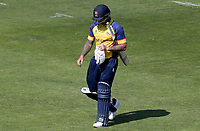 Cameron Delport of Essex leaves the field having been caught out during Hampshire vs Essex Eagles, Vitality Blast T20 Cricket at the Ageas Bowl on 25th August 2019