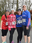 Sharon Finn, Annmarie Branigan, Alison Browne and Brona Grogan who took part in Erin's Run. Photo:Colin Bell/pressphotos.ie