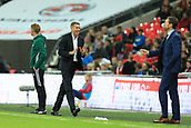 5th October 2017, Wembley Stadium, London, England; FIFA World Cup Qualification, England versus Slovenia; Slovenia Manager Srecko Katanec