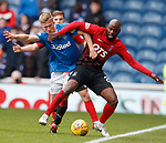 05.05.2018 Rangers v Kilmarnock: Ross McCrorie and Youssouf Mulumbu