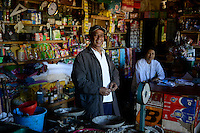MADAGASCAR , Vohilava, shop of chinese businessman / MADAGASKAR Mananjary, Vohilava, Laden einer chinesischen Familie, sie kaufen auch Gold an