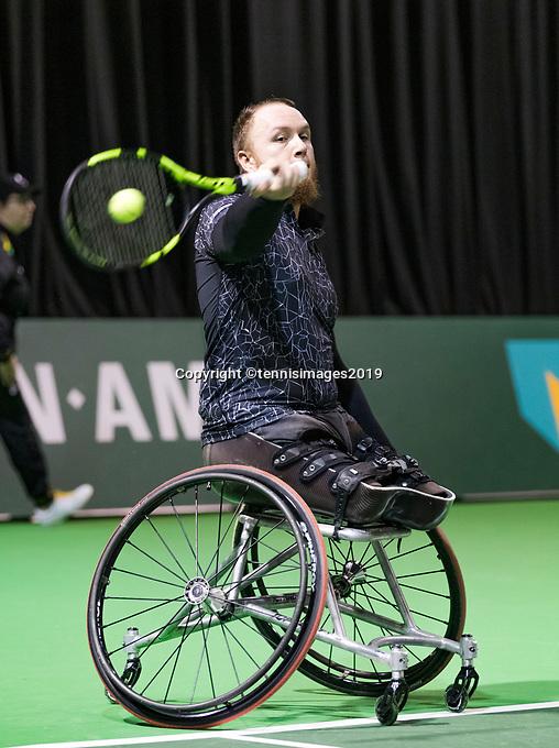 Rotterdam, The Netherlands, 14 Februari 2019, ABNAMRO World Tennis Tournament, Ahoy, Wheelchair, Nicolas Peifer (FRA),<br /> Photo: www.tennisimages.com/Henk Koster
