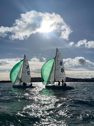 Match Racing in the Elliott Six-Metres off Dun Laoghaire