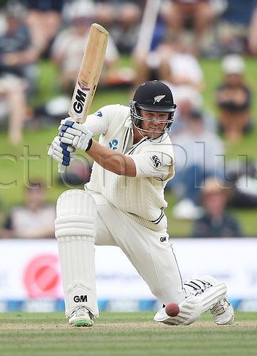 23.02.2016. Christchurch, New Zealand.  Corey Anderson batting on Day 4 of the 2nd test match. New Zealand Black Caps versus Australia. Hagley Oval in Christchurch, New Zealand. Tuesday 23 February 2016.
