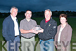 Paul Stack second from right winner of second prize at the Duagh GAA Golf Classic at Ballybunion golf club on April  twentieth was presented with his prize at Duagh GAA Club on Monday night.  Pictured from l-r are Noel Kneafsey, Martin Leane (club chairman), Paul Stack, winner and Mary Ahern (club secretary)...   Copyright Kerry's Eye 2008