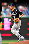 22 April 2010: Colorado Rockies' shortstop Troy Tulowitzki in action against the Washington Nationals at Nationals Park in Washington, DC. The Rockies shut out the Nationals 2-0 gaining a 2-2 series split. Mandatory Credit: Ed Wolfstein Photo