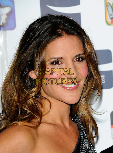 AMANDA BYRAM .At the Carphone Warehouse Appys Awards at Vinopolis, London, England, UK, April 11th 2011..portrait headshot smiling one shoulder print black white .CAP/CJ.©Chris Joseph/Capital Pictures.