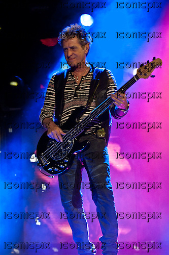 JOURNEY - bassist Ross Valory performing live at The San Manuel Amphitheatre in Devore, CA USA - July 21, 2012.  Photo © Kevin Estrada / IconicPix