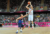 02.08.2012. London, England.  JosA Calderon Espagne Basketball  Spain versus Great Britain.