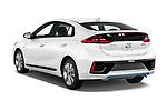 Car pictures of rear three quarter view of 2017 Hyundai Ioniq-Hybrid Executive 5 Door Hatchback Angular Rear
