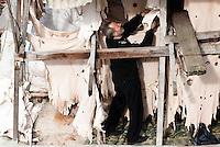 - Fez, uomini al lavoro in una conceria nel centro della citt&agrave; vecchia.<br /> <br /> - Fez, men at work in a tannery placed in the old twon center.
