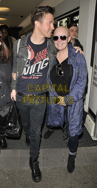 LONDON, ENGLAND - MARCH 25: Sam Dowler &amp; Gail Porter attend the Vision Express &amp; Heston Blumenthal new spring/summer 2014 collection launch party, Vision Express, Oxford St., on Tuesday March 25, 2014 in London, England, UK.<br /> CAP/CAN<br /> &copy;Can Nguyen/Capital Pictures