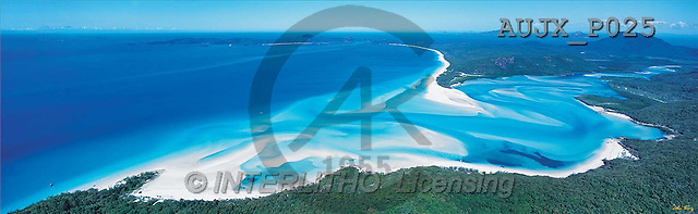 Dr. Xiong, LANDSCAPES, panoramic, photos, Whitehaven Beach, Australia(AUJXP025,#L#)