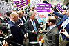 Nigel Farage MEP UKIP Leader launches the largest National advertisement campaign of the EU referendum in Westminster Today<br /> 16th June 2016 outside Europe House, Smith Square, London, Great Britain <br /> <br /> <br /> Nigel Farage <br />  <br />  <br /> <br /> <br /> Photograph by Elliott Franks <br /> Image licensed to Elliott Franks Photography Services