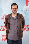 Movie director David Serrano poses during `Tenemos que hablar´ film presentation in Madrid, Spain. February 24, 2016. (ALTERPHOTOS/Victor Blanco)