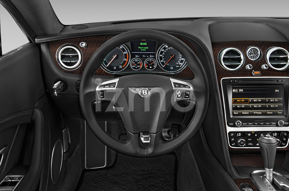 Car pictures of steering wheel view of a 2014 Bentley Continental GT V8 Coupe 2 Door Coupe Steering Wheel