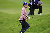 Anne Van Dam of Team Europe on the 1st during Day 2 Fourball at the Solheim Cup 2019, Gleneagles Golf CLub, Auchterarder, Perthshire, Scotland. 14/09/2019.<br /> Picture Thos Caffrey / Golffile.ie<br /> <br /> All photo usage must carry mandatory copyright credit (© Golffile | Thos Caffrey)