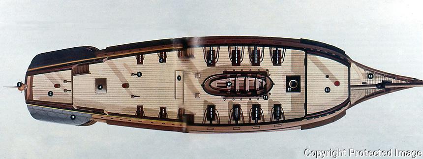 Ships:  Spanish Treasure Galleon--Plan.