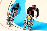 Picture by Alex Whitehead/SWpix.com - 10/12/2017 - Cycling - UCI Track Cycling World Cup Santiago - Velódromo de Peñalolén, Santiago, Chile - Japan's Tomoyuki Kawabata defeats Canada's Hugo Barrette in the Men's Sprint quarter-finals.