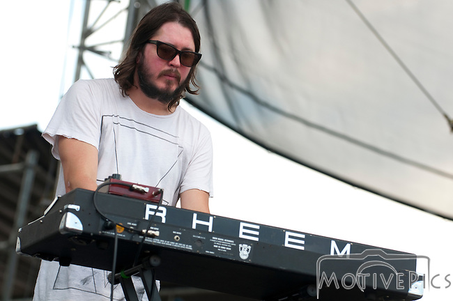 The Black Angels playing the Ad Astra stage at the First Annual Kanrocksas Music Festival.