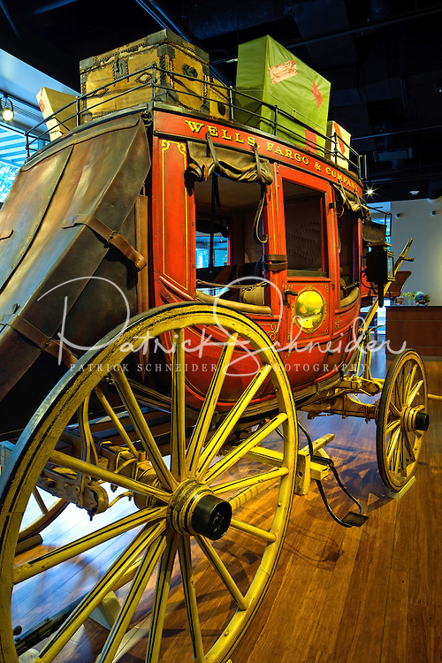 Photography of the Wells Fargo History Museum is located in Three Wells Fargo in Uptown CharlotteNorth Carolina.<br /> <br /> Charlotte Photographer -PatrickSchneiderPhoto.com