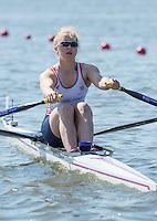 Brandenburg. GERMANY. GBR W1X.  Mathilda HODGKINS-BYRNE.<br /> 2016 European Rowing Championships at the Regattastrecke Beetzsee<br /> <br /> Friday  06/05/2016<br /> <br /> [Mandatory Credit; Peter SPURRIER/Intersport-images]