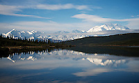 June 7, 2012 Wonder Lake and Mount McKinley (Denali), Kantishna, Denali National Park and Preserve, Alaska, United States.