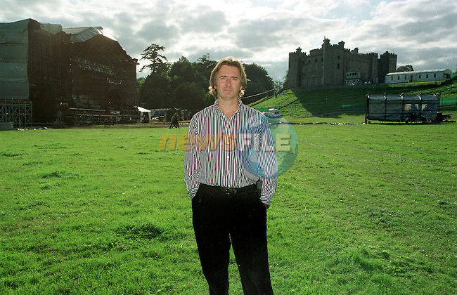 Lord Henry Mount Charles with the Stage being built for the Verve concert last august and Slane Castle in the Background..Pic Fran Caffrey / Newsfile