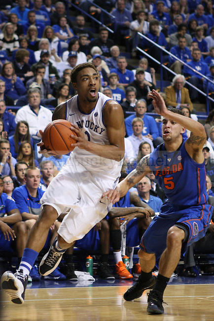 UK guard James Young drives the ball to the basket during the first half of the UK vs. Florida men's basketball game at Rupp Arena in Lexington, Ky., on Saturday, February, 15, 2014. Photo by Jonathan Krueger | Staff