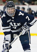 Matt Killian (Yale - 7) - The visiting Yale University Bulldogs defeated the Harvard University Crimson 2-1 (EN) on Saturday, November 15, 2014, at Bright-Landry Hockey Center in Cambridge, Massachusetts.