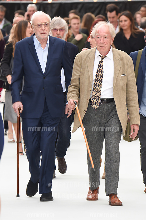 "LONDON, UK. September 12, 2018: Sir Michael Caine & Sir Michael Gambon at the World Premiere of ""King of Thieves"" at the Vue Cinema, Leicester Square, London.<br /> Picture: Steve Vas/Featureflash"