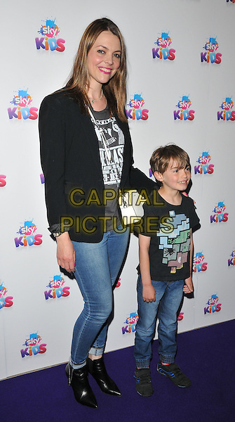Kate Ford &amp; son Otis James Roger Connerty at the Sky Kids Cafe VIP launch party, The Vinyl Factory, Marshall Street, London, England, UK, on Sunday 29 May 2016.<br /> CAP/CAN<br /> &copy;CAN/Capital Pictures