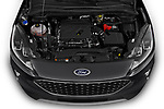 Car stock 2020 Ford Escape SEL 5 Door SUV engine high angle detail view
