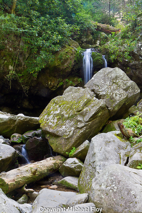 Grotto Falls, located in The Great Smoky Mountains National Park, Tennessee.