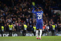 Callum Hudson-Odoi of Chelsea applauds the home fans after the match during Chelsea vs Dynamo Kiev, UEFA Europa League Football at Stamford Bridge on 7th March 2019