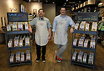Co-owners Perry Patten (left) and Scott Tripp inside the store in downtown Edwardsville.