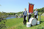 James Gibson and Ben Fulterton from the Portaferry Accordian band pictured at the Orange Order march at Oldbridge. Photo: Colin Bell/pressphotos.ie