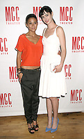 June 14 , 2012 Emmanuelle Chriqui and Krysten Ritter attends the MCC Theater's benefit reading of The Heart Of The Matter afterparty  at the Ramscale in New York City. &copy; RW/MediaPunch Inc. NORTEPHOTO.COM<br />