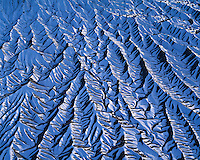 Snow Patterns, .Proposed San Rafael Wilderness, Utah. .Aerial View, Near Factory Butte & San Rafael Swell. .February