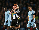 Jack Colback of Newcastle United dejected - Barclays Premier League - Manchester City vs Newcastle Utd - Etihad Stadium - Manchester - England - 21st February 2015 - Picture Simon Bellis/Sportimage