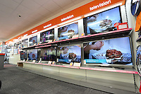 The television section in the store