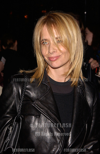 Actress ROSANNA ARQUETTE at the world premiere, in Hollywood, of Domestic Disturbance. .30OCT2001.  © Paul Smith/Featureflash
