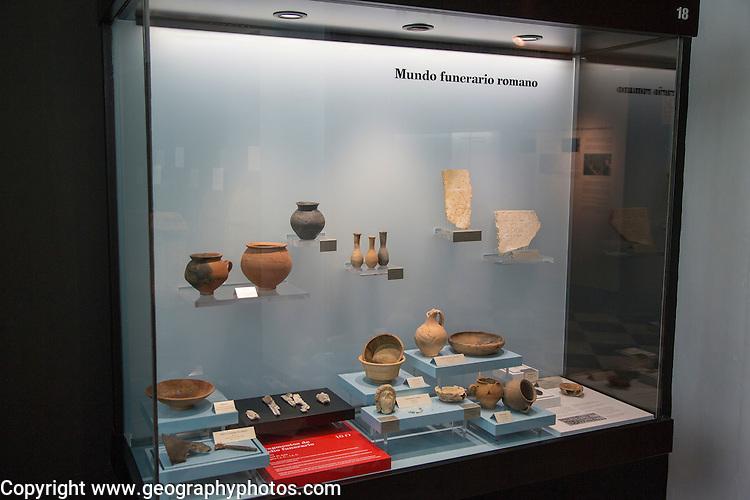 Roman funeral items archaeology museum, Jerez de la Frontera, Cadiz Province, Spain