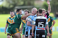 The Wyong Roos play Terrigal Sharks in Round 5 of the Open Age  Central Coast Rugby League Division at Morry Breen Oval on 5th of May, 2019 in Kanwal, NSW Australia. (Photo by Paul Barkley/LookPro)